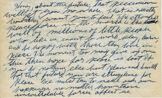 Letter from Paul Greenberg to Esther Novogrodsky, December 19, 1950 (exerpt)